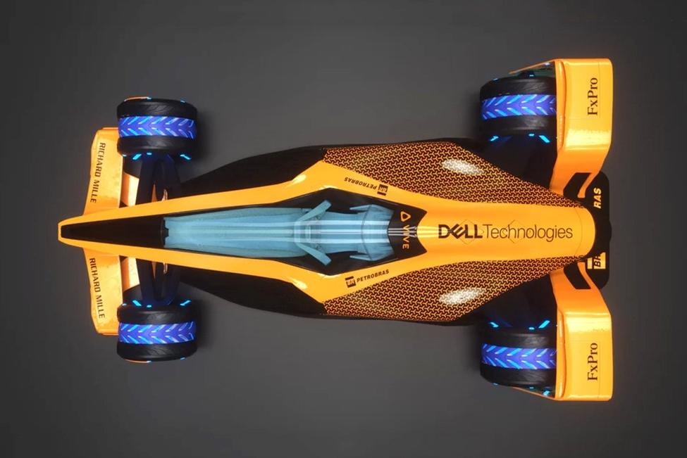 迈凯伦发布2050赛车概念图 30年后的F1长这样
