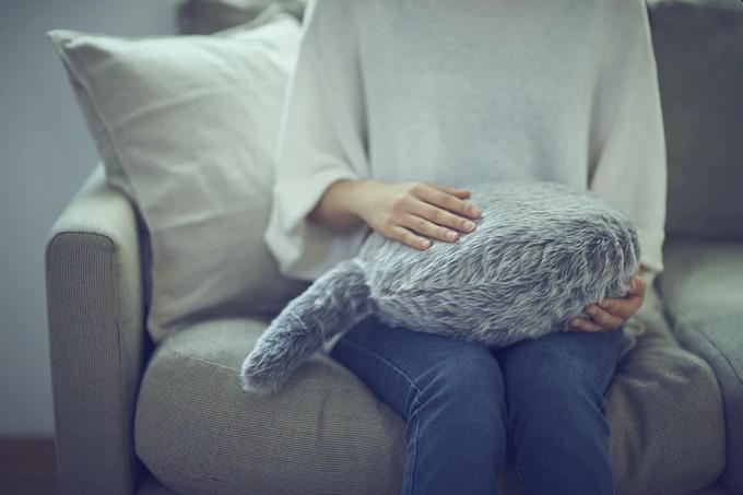 撸个电子猫? 日本推出仿生猫咪抱枕迷你款