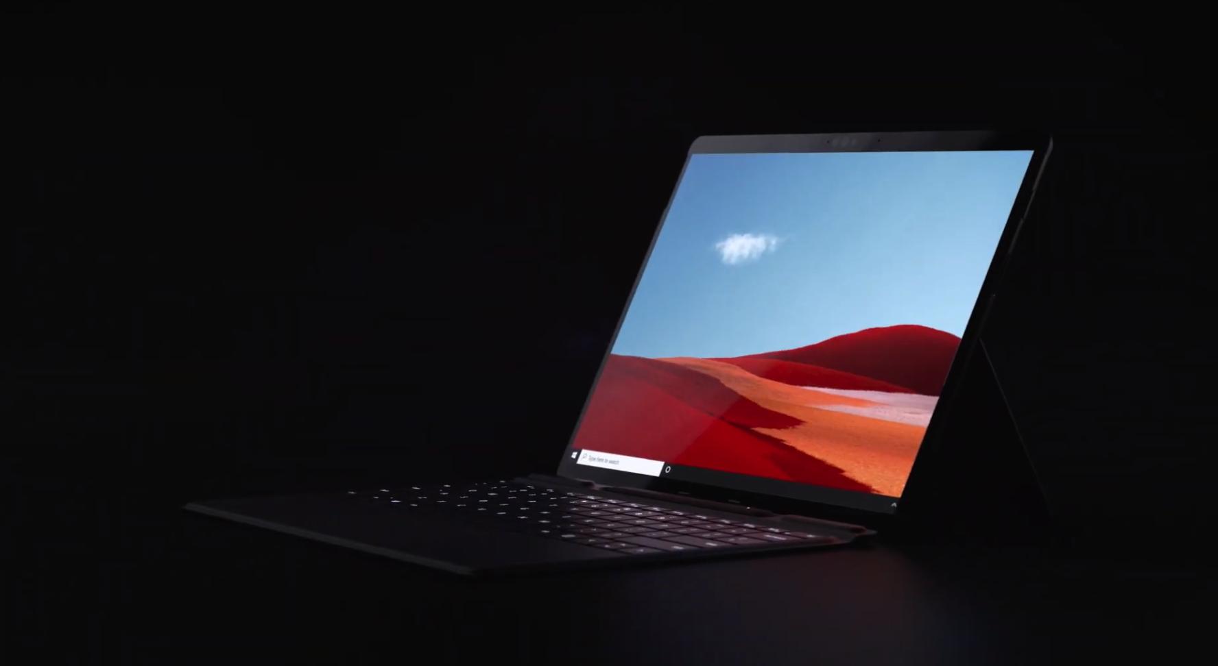 更轻更薄的Surface Pro X二合一笔记本