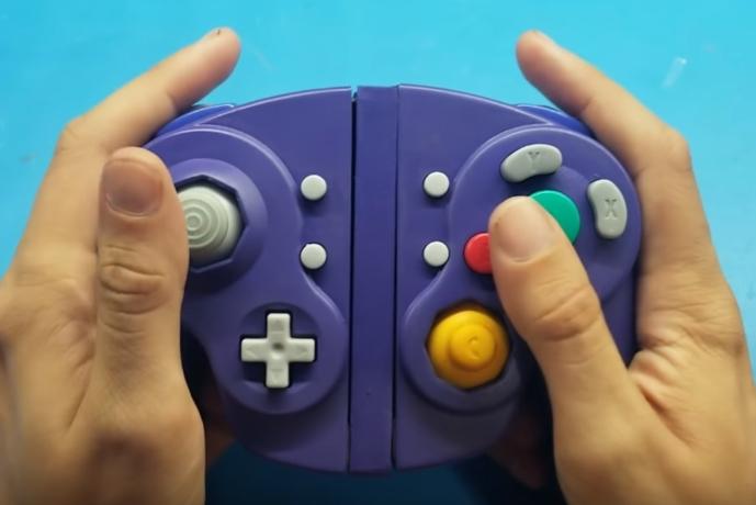 改装者把Switch的Joy-Con装进了NGC的手柄