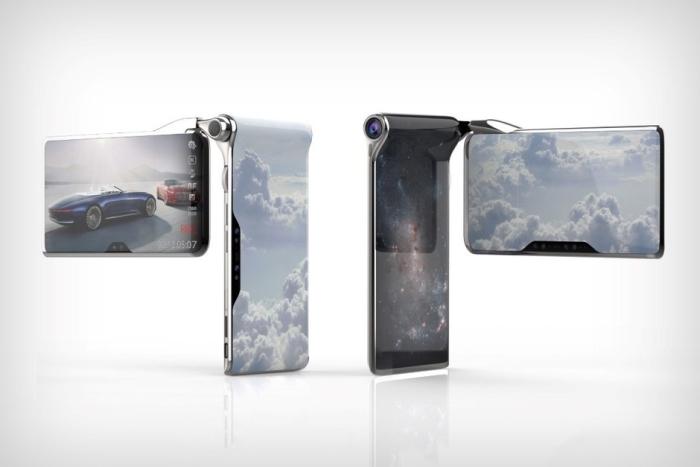 翻盖带旋转屏 如此酷炫的概念手机你值得拥有