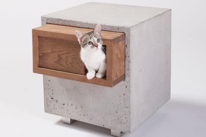 人不如猫系列之:混凝土做的猫窝
