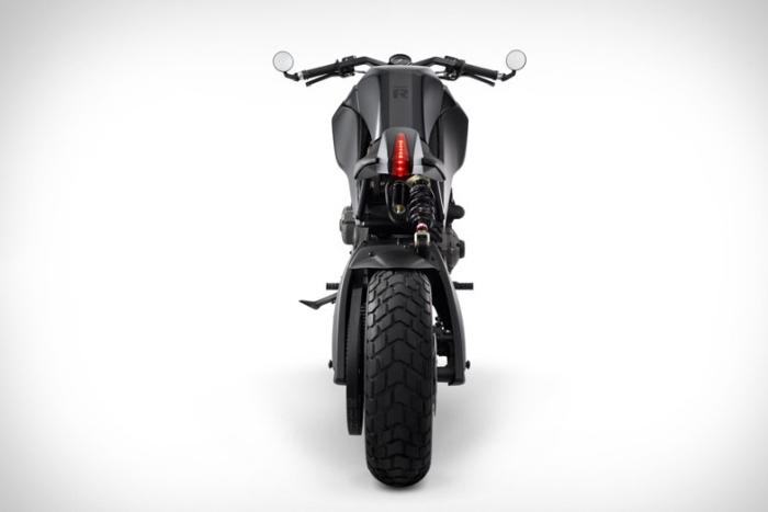 靈感源自四十七浪人的全黑定制摩托車