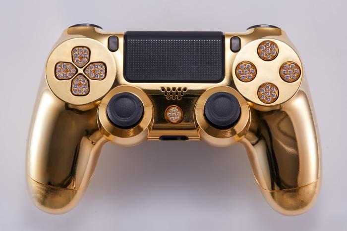 镀金镶钻PS4手柄见过没?能买十部XS Max