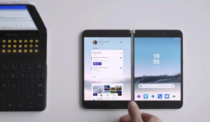 微软首款双屏手机Surface Duo