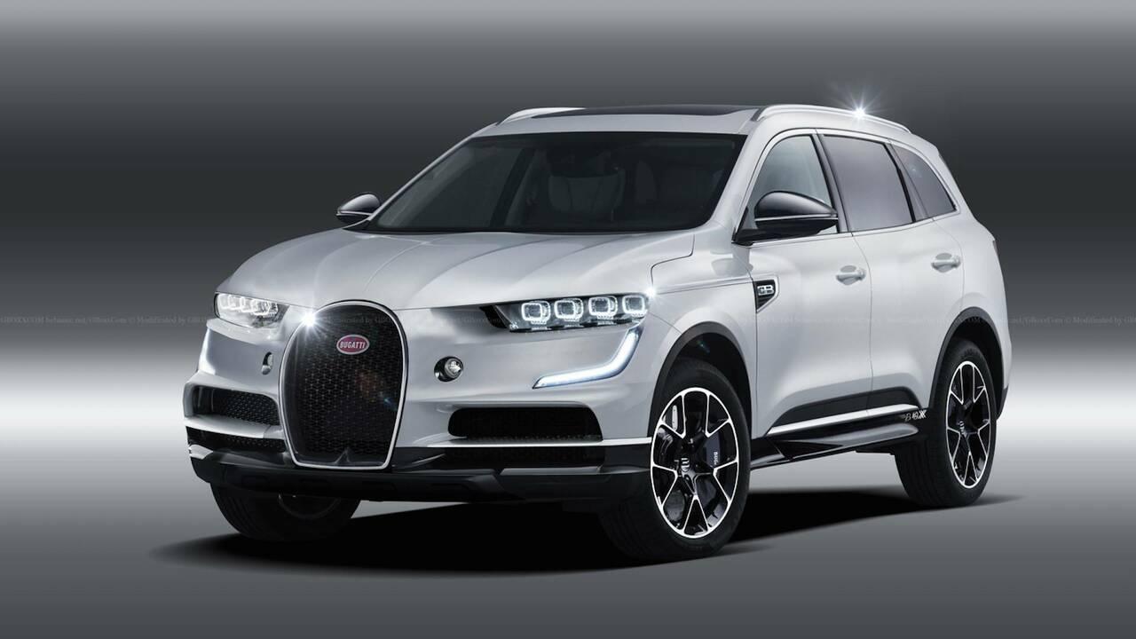 布加迪首款SUV曝光:或为纯电动车型