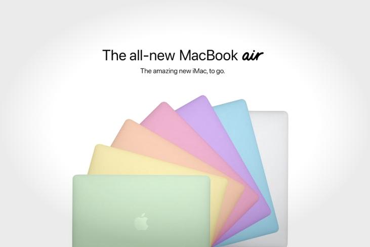 新MacBook Air概念设计:灵感源自全新的多彩M1 iMac