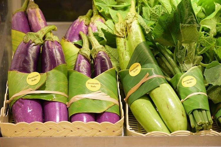 这家超市竟然用芭蕉叶做包装 真的太可爱了
