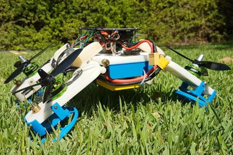 永不炸机的无人机?撞到地面可变身机器人车