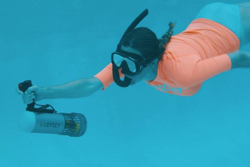 模块化水下滑板车 最高时速6公里/小时