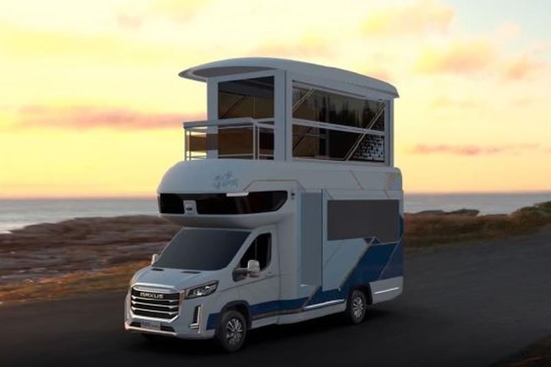 上汽大通MAXUS展示全新豪华房车 堪称移动别墅
