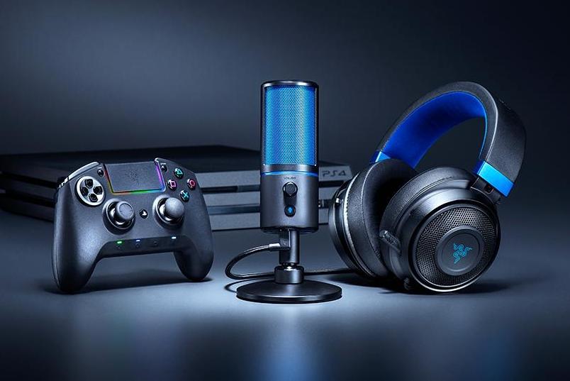 雷蛇推PlayStation主题麦克风:蓝黑低调配色