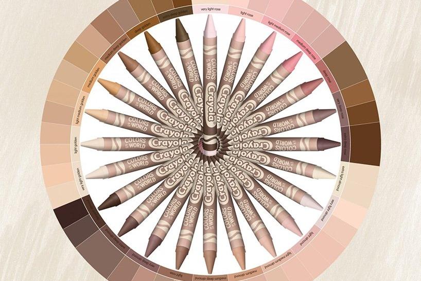 crayola新推蜡笔套装 画出自己专属肤色