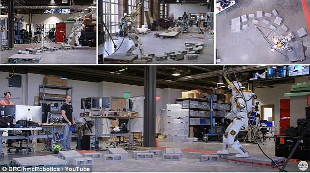 NASA人形机器人展示行走技巧:将用于火星探索