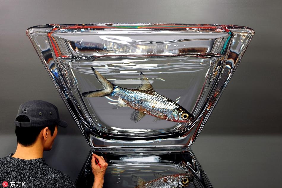 惊艳绝伦!韩国艺术家创造超现实主义3D画栩栩如生