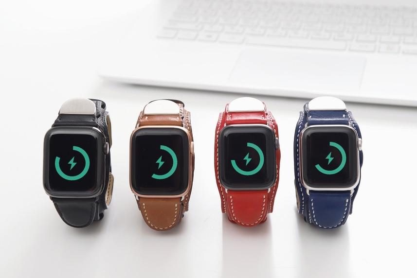 内置电池的Apple Watch真皮表带