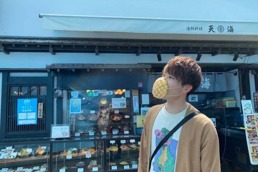 能吃的口罩来了!日本企业推出菠萝包口罩