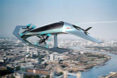 阿斯顿-马丁发布Volante Vision概念飞行汽车渲染图
