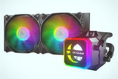 Cougar推首款水冷散热器:RGB信仰灯 水冷头透明设计