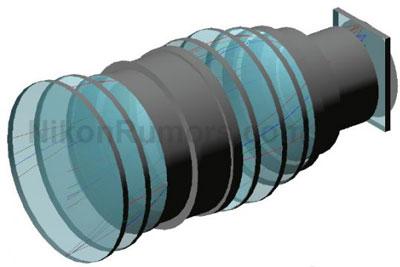 尼康58mm f/0.7超大光圈镜头设计图曝光