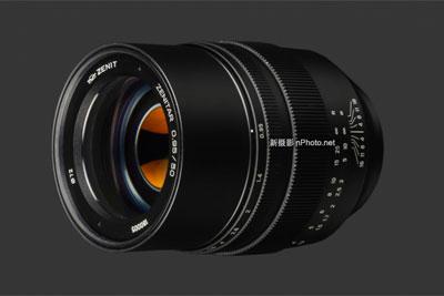 泽尼特发布50mm f/0.95 E卡口镜头