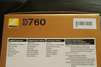 尼康D760包装盒曝光 等了这么多年终于出了