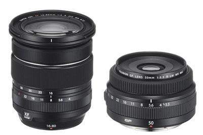 富士XF16-80mm F4、GF50mm F3.5镜头7月18日接受预定