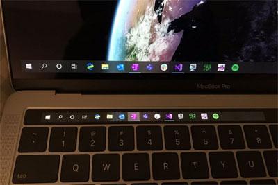 让Touch Bar实用:第三方开发者将其变成Win10任务栏