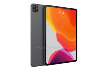 2019年款iPad Pro高清衬着图暴光:后置三摄
