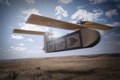 无人滑翔机问世 专为战场货物运输而设计