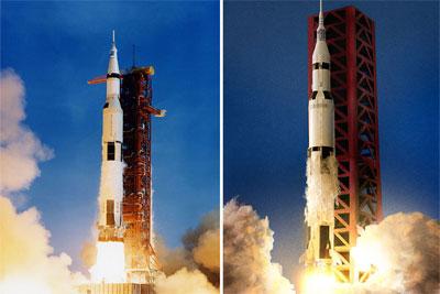 创意无穷 LEGO玩具复刻阿波罗11号登月场景