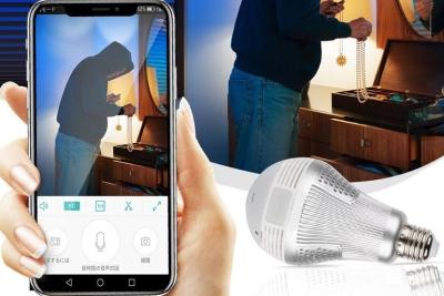 日本公司发布灯泡型360度全景安防网络摄像头