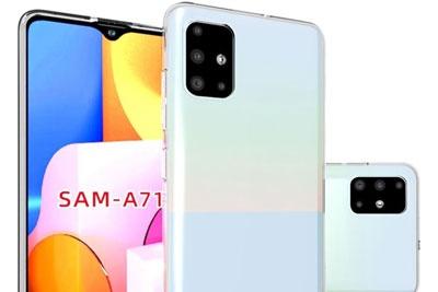 三星A71手机最新带壳渲染图曝光:L型四摄+水滴屏