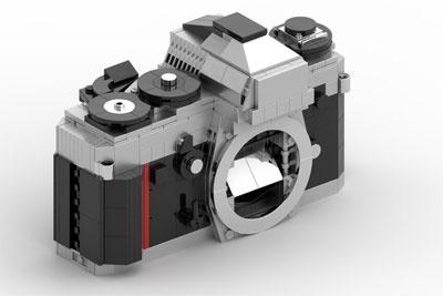 用乐高拼出的尼康F3 竟然能装镜头和胶卷