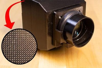 真的能拍照 手工大神自制1000像素传感器