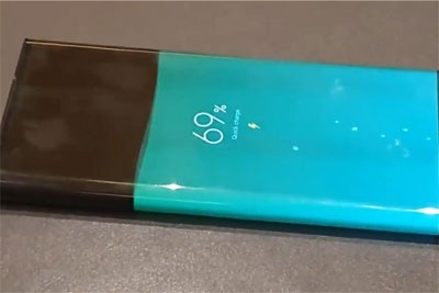 小米MIX Alpha环绕屏手机充电动画效果展示