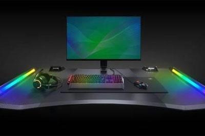 造型魔幻!首款RGB电脑桌来了
