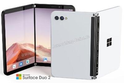 微软Surface Duo 2概念渲染图释出:窄边框+后置双摄
