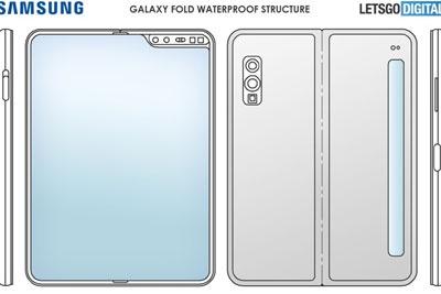 三星折叠手机新专利曝光,防水能力加入