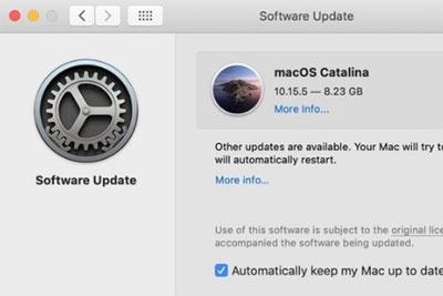 更新macOS Catalina 10.15.5后,更难忽略软件更新了