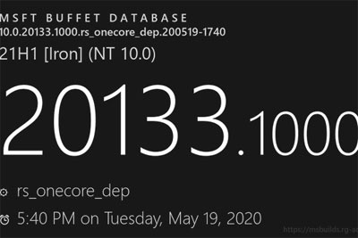 微软Win10最新21H1版本20133.1000暴光
