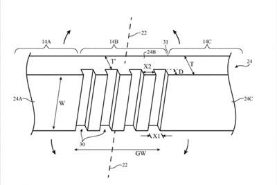 苹果获新专利:柔性玻璃屏幕助力打造出可折叠iPhone