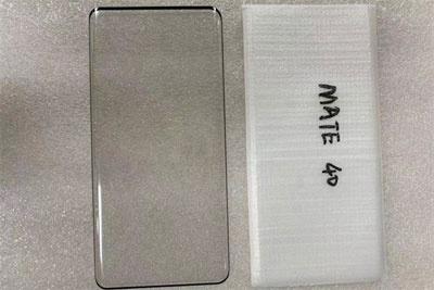 华为Mate 40贴膜曝光:标准版也是曲面屏