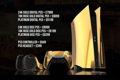 土豪专属!24K纯金版PS5开启预购,售价约7万人民币