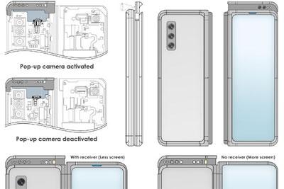 三星新专利:采用升降式摄像头的Galaxy Z Fold