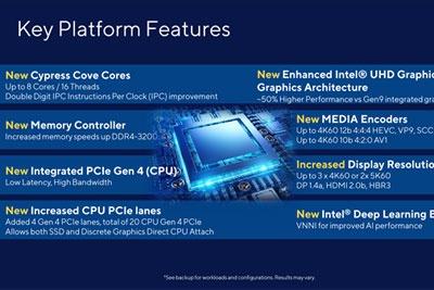 定了!Intel 11代桌面酷睿明年3月发布:兼容Z490主板