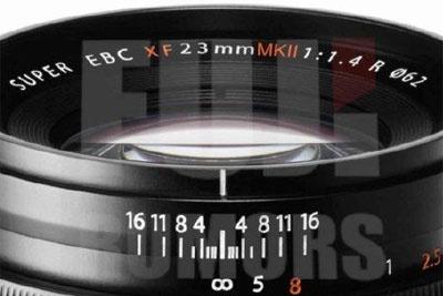 XF23mm f/1.4 MKII进入视野?富士新镜传闻汇总