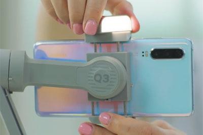 智云SMOOTH Q3发布:稳定器带补光灯?有趣!