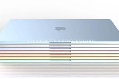 苹果新一代七彩MacBook Air渲染图曝光:白色键盘+触控板变小