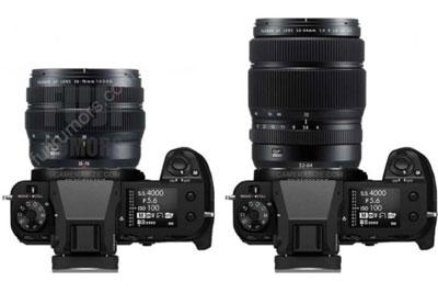 富士GF35-70mm镜头体积对比